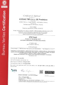 Certificate IFS
