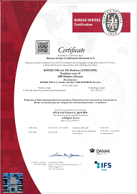 Certifikat IFS
