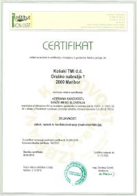 Certificate »IZBRANA KAKOVOST« sveže meso Slovenija